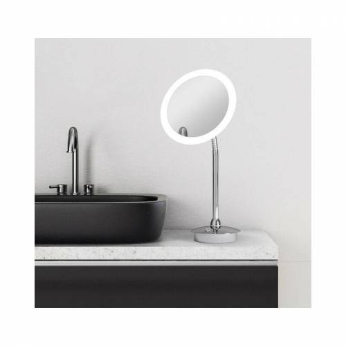 TALOS LED Kosmetikspiegel Kos Ø 21,6 cm - Rasierspiegel mit 5-Fach