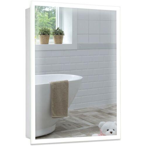 MOOD LED beleuchteter Badezimmer Spiegelschrank, Warme und Kalte LED,
