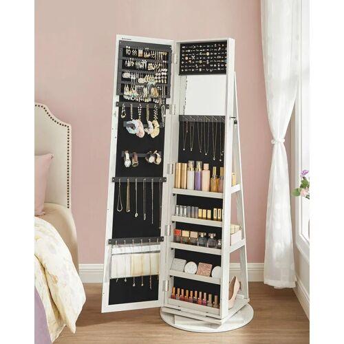 NO_BRAND Schmuckschrank Spiegelschrank abschließbar um 360° drehbar mit