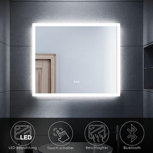SONNI Badspiegel mit LED Beleuchtung Touch Beschlagfrei Bluetooth Bad