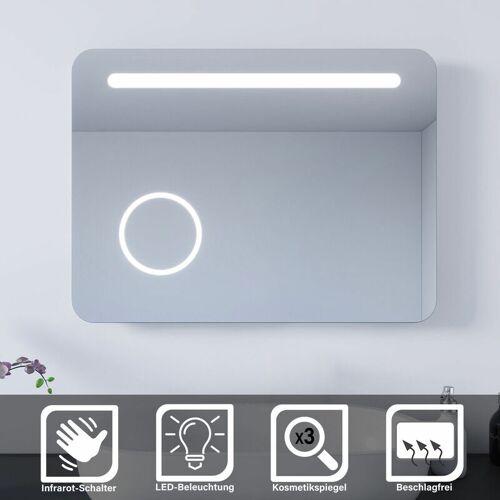 SONNI LED Badspiegel 80x60 Bad Wandspiegel Badezimmerspiegel