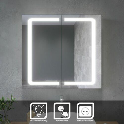 SONNI LED Spiegelschrank Bad Badezimmerspiegel Wandschrank Badschrank mit