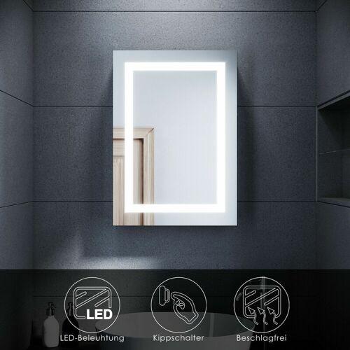 SONNI LED Spiegelschrank mit Beleuchtung Badspiegel 50 x 70 Badschrank
