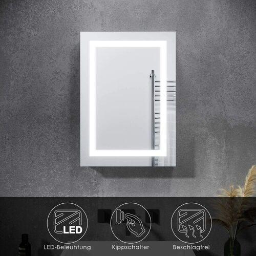 SONNI Spiegelschrank mit LED Beleuchtung Badspiegel 50 x 70 Badschrank