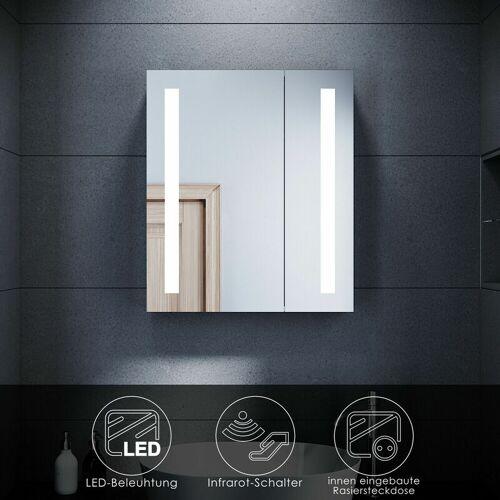 SONNI Spiegelschrank LED Badezimmerspiegel Badschrank Infrarot Sensorschalter
