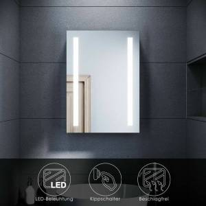 SONNI LED Spiegelschrank mit Beleuchtung Badezimmerspiegel Badschrank