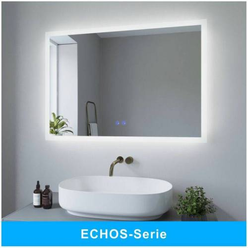 AQUABATOS® LED Badspiegel mit Beleuchtung Badezimmerspiegel Beleuchtet