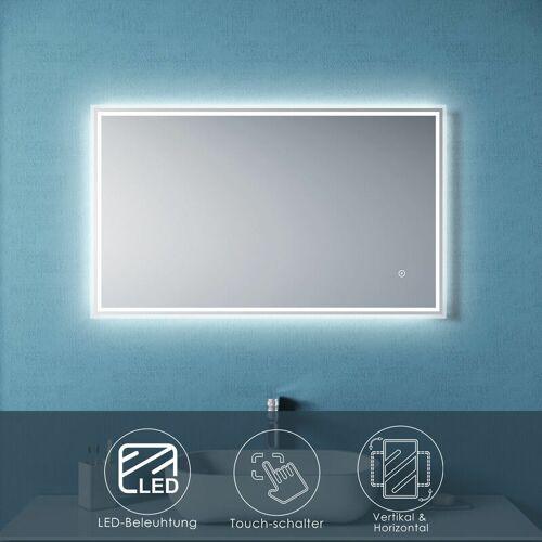 SONNI Badspiegel LED 100x60 cm mit Beleuchtung Touch Wandspiegel