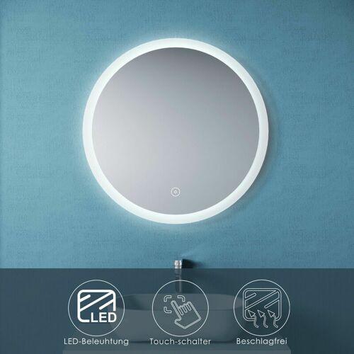 Sonni - Badspiegel LED Rund 80cm Touch Beschlagfrei Wandspiegel mit