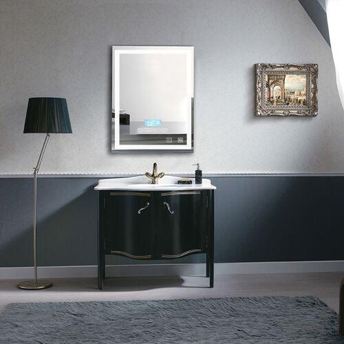 WYCTIN Badspiegel mit Beleuchtung, Bluetooth Lautsprechern und Touch Control
