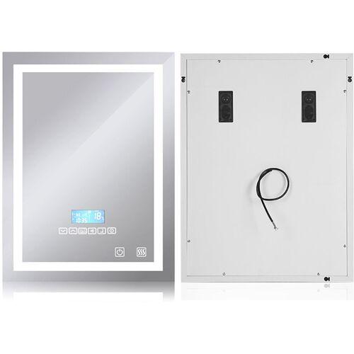 OOBEST Badspiegel mit Beleuchtung, Bluetooth Lautsprechern und Touch Control