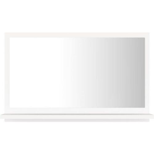 VIDAXL Badspiegel Weiß 60x10,5x37 cm Spanplatte