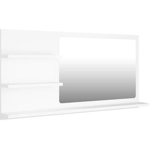 VIDAXL Badspiegel Weiß 90x10,5x45 cm Spanplatte