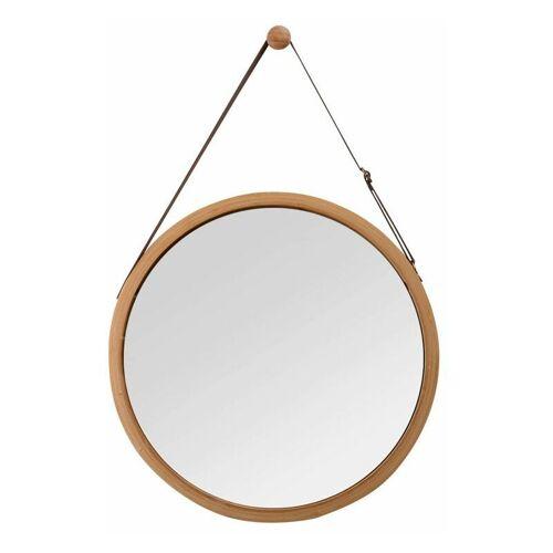 ABCRITAL Bamboo Wandspiegel Rund Flur Spiegel Badspiegel mit Verstellbarer