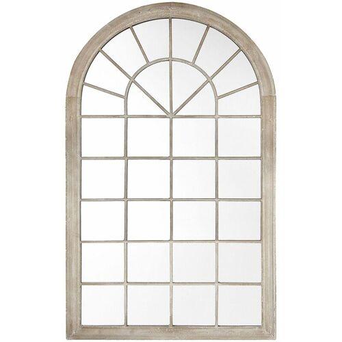 BELIANI Wandspiegel Beige 75 x 130 cm Metall mit Glas Fensteroptik im gotischen