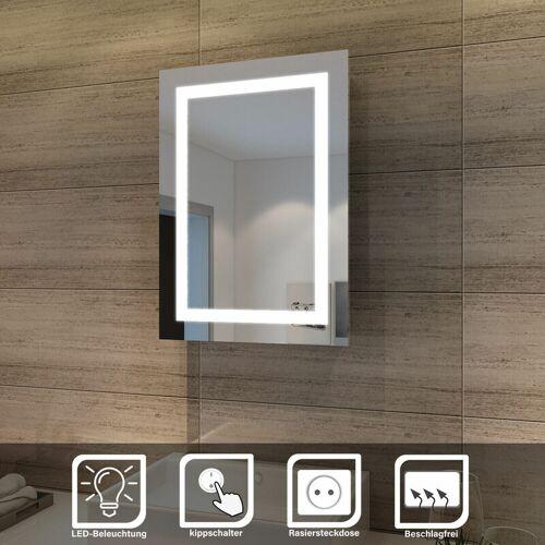 Sonni - Elegant Bad Spiegelschrank mit Beleuchtung Schiebetür LED Licht