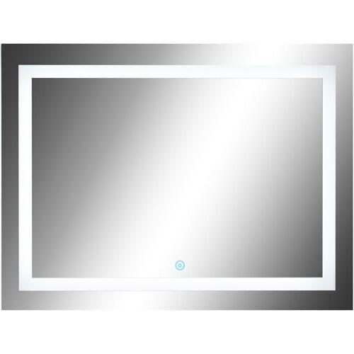 HOMCOM ® LED Badspiegel   Wandspiegel   Glas, Aluminium   60 x 80 x 4cm