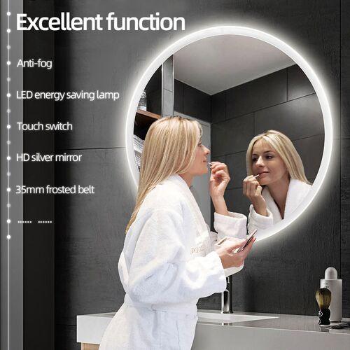 OOBEST LED Anti-Fog Rund Badspiegel Wandspiegel Badspiegel Mit Peeling