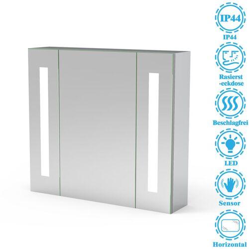 Aica - LED Spiegelschrank 65×60 cm IR-Sensor Schalter, Beschlagfrei,
