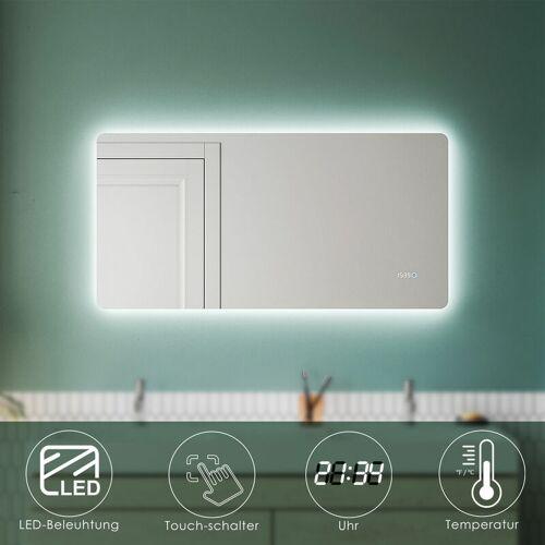 SONNI Badezimmerspiegel mit LED 120 Uhr Beschlagfrei Badspiegel LED Touch