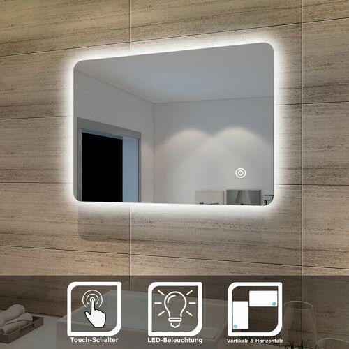 SONNI Badspiegel Lichtspiegel LED Spiegel Wandspiegel mit Touch-Schalter 70 x