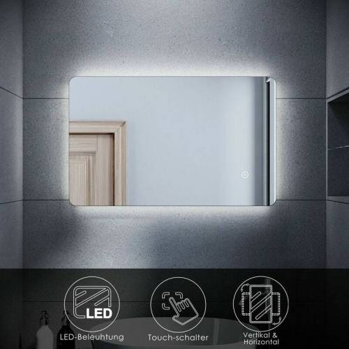 SONNI LED BadSpiegel Bad Badezimmer Wandspiegel Spiegel mit LED-Beleuchtung