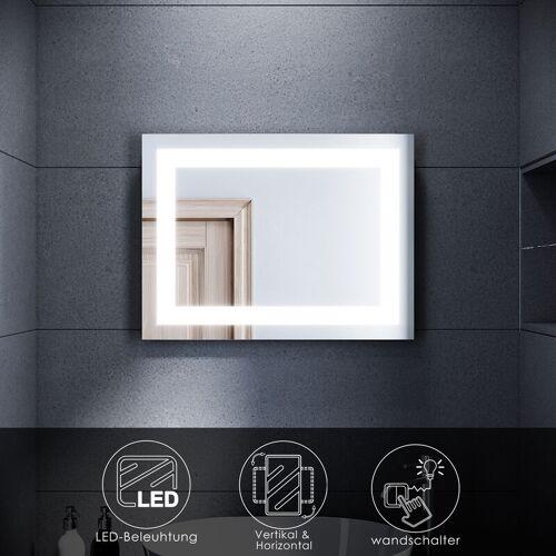 SONNI LED Badspiegel Badezimmer Wandspiegel Bad Spiegel mit LED-Beleuchtung