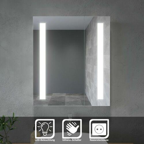 SONNI LED Spiegelschrank 2-türig Badezimmerspiegel Badschrank Infrarot