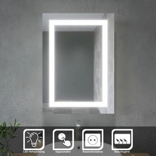 SONNI LED Spiegelschrank Badezimmerspiegel Badschrank Mit Steckdose