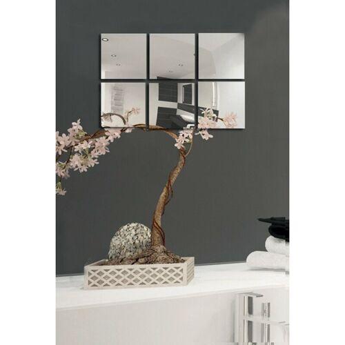 MSV Spiegel Spiegelfliesen Wandspiegel Fliesenspiegel selbstklebend 6 Stück