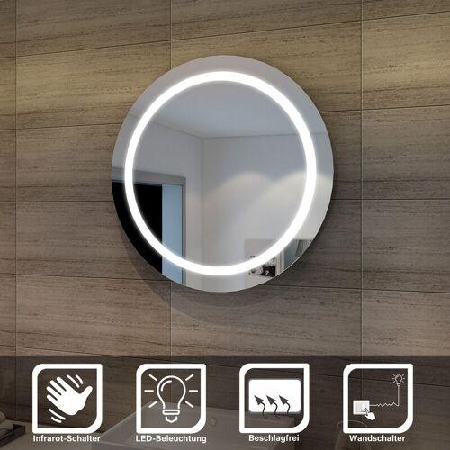 Sonni - sunnyshowers LED Bad Spiegel 84cm wandspiegel rund Badezimmer