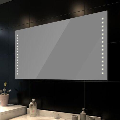 Topdeal Badspiegel mit LED-Leuchten 100x60 cm 08242