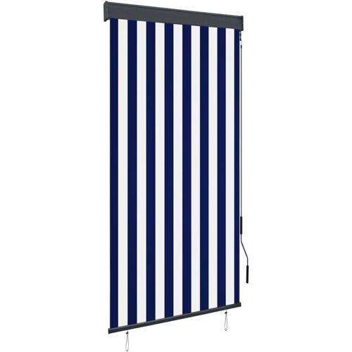 VIDAXL Außenrollo 80 x 250 cm Blau und Weiß