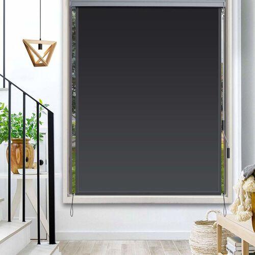 COSTWAY Senkrechtmarkise Sichtschutzrollo Fensterrollo, Sichtschutz