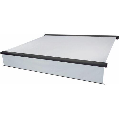 HHG Elektrische Vollkassetten-Markise 606, 4,5x3m ausfahrbarer Volant ~