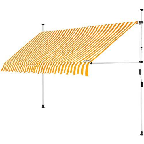 DETEX Markise Balkonmarkise Klemmmarkise 150 - 400cm Sonnenmarkise UV- und