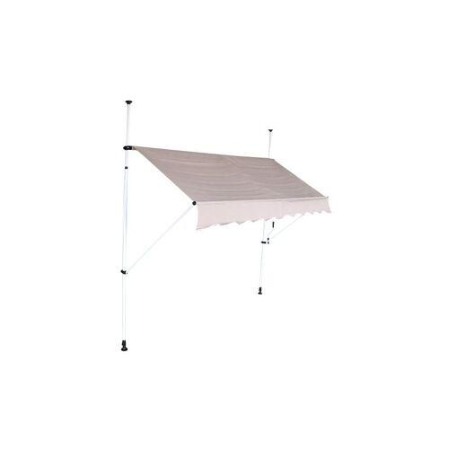 INTEROUGE Mobile Markise 2m mit einziehbarer Dachüberdachung Manuell - Grau