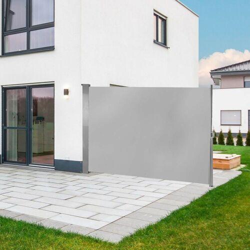 DEMA Seitenmarkise Seitenrollo Sichtschutz Windschutz Markise 180 x 300 cm
