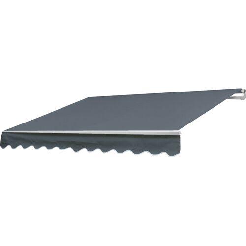 HHG Alu-Markise 339, Gelenkarmmarkise Sonnenschutz 3x2,5m ~ Acryl Grau - HHG