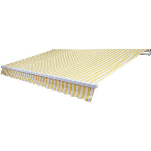 HHG Alu-Markise 980, Gelenkarmmarkise Sonnenschutz 4x3m ~ Polyester