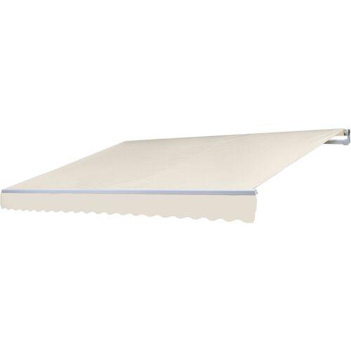 HHG Alu-Markise 983, Gelenkarmmarkise Sonnenschutz 4,5x3m ~ Acryl Creme