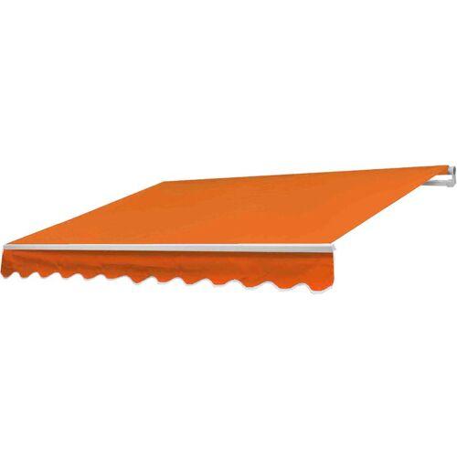 HHG Alu-Markise 986, Gelenkarmmarkise Sonnenschutz 5x3m ~ Polyester