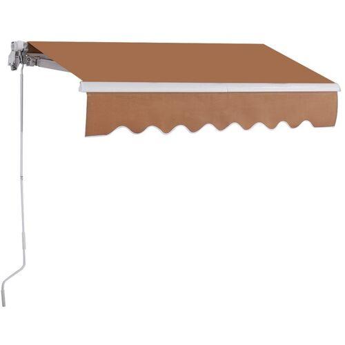 COSTWAY 2,5 x 2 m Gelenkarmmarkise Sonnenmarkise Balkonmarkise Terrassenmarkise