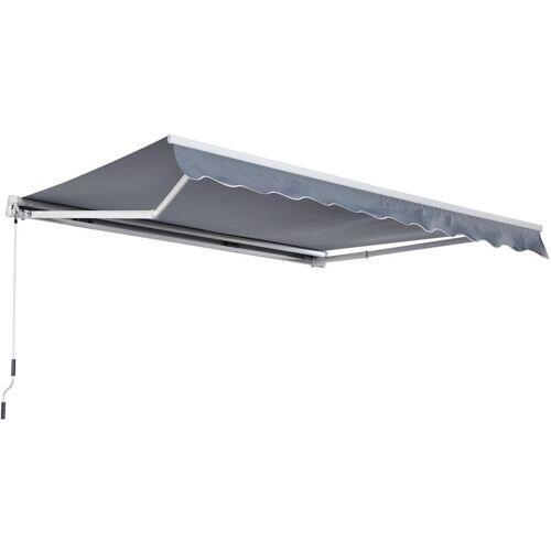 Outsunny® Markise Alu-Markise Aluminium-Gelenkarm-Markise 3x4m