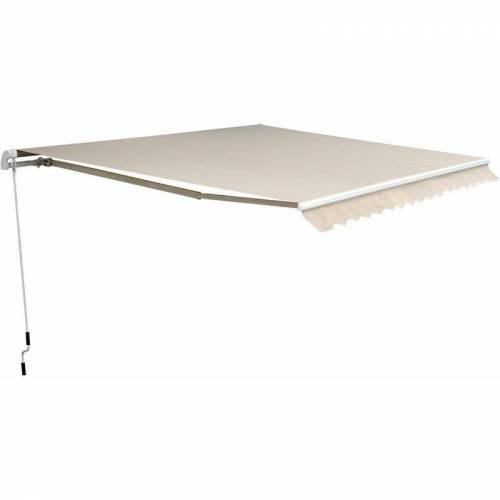 Outsunny® Markise Alu-Markise Aluminium-Gelenkarm-Markise 4,5x3m