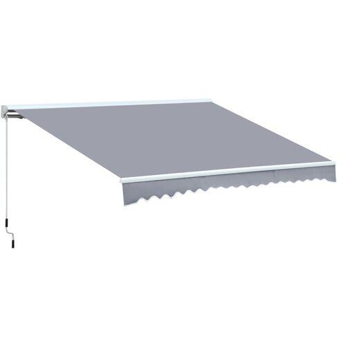 Outsunny ® Markise Alu-Markise Aluminium-Gelenkarm-Markise 4,5x3m Sonnenschutz