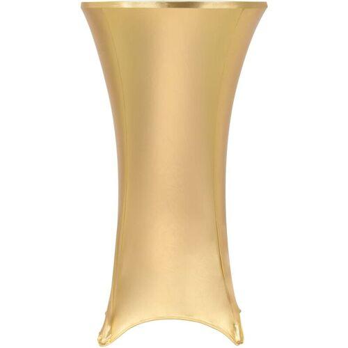 YOUTHUP 2 Stück Stretch-Tischdecken Golden 60 cm