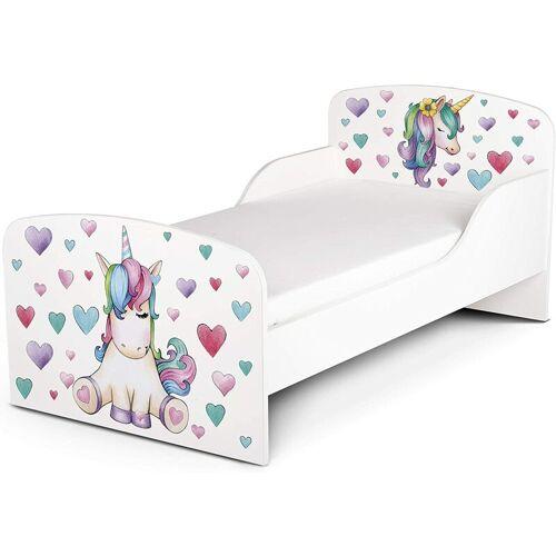 LEOMARK Funktionsbett für Kinder - Einhorn - Kinderbett mit Matratze und