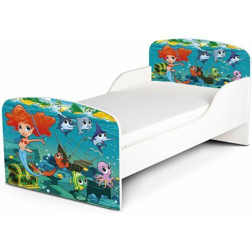 LEOMARK Funktionsbett für Kinder - Meerjungfrau - Kinderbett mit Matratze und