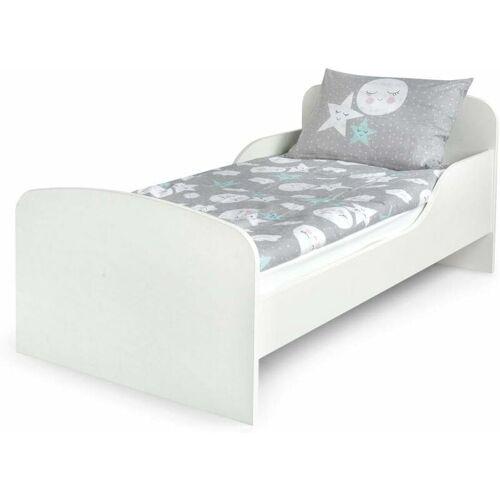 LEOMARK WHITE - Kinderbett mit Matratze und Lattenrost (140/70 cm)